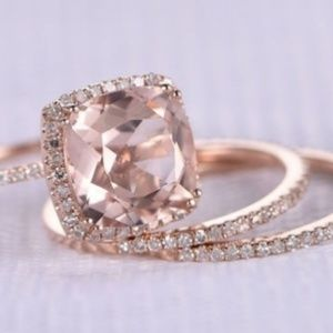 Jewelry - 3pc Fashion 18K Rose Gold  plated Ring